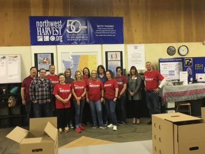 Keller Williams Food sorting event for NW Harvest (5/10/18)